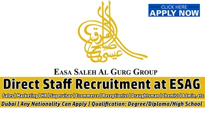 Photo of Easa Saleh Al Gurg Group | ESAG Staff Recruitment Easa Saleh Al Gurg Group | ESAG Staff Recruitment Easa Saleh Al Gurg Group