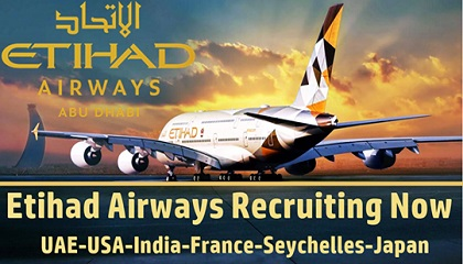 Photo of Etihad Airways in jobs circular