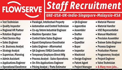 Photo of Flowserve Employment & Jobs