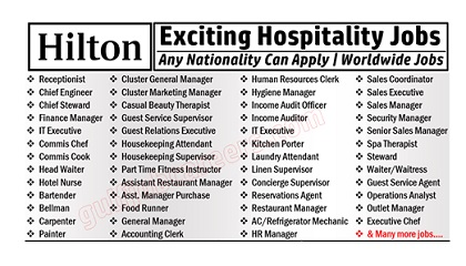 Photo of Hilton Hotels & Resorts in Jobs Circular