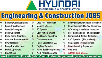 Photo of Hyundai Engineering & Construction Job Vacancy
