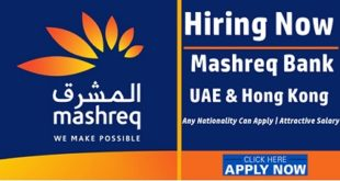 Mashreq Bank Employment & Jobs