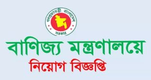 Ministry of Commercepublished a Job Circular