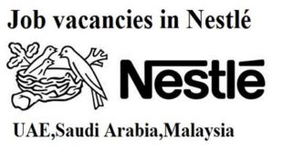 Nestlé JOB VACANCIES