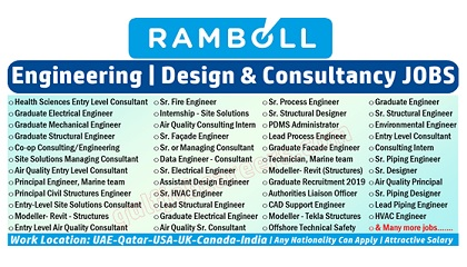 Photo of Ramboll Employment & Jobs | UAE-Qatar-USA-UK-Canada-India