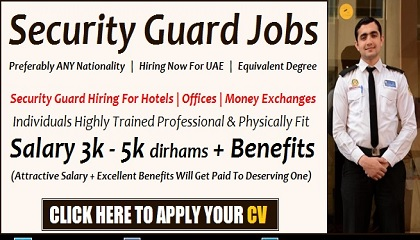 Photo of Security Guard Jobs in Dubai & UAE