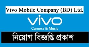 Vivo Mobile Company  published a Job Circular