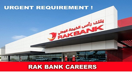 Photo of HIRING NOW! RAK BANK CAREERS