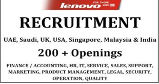 JOBS IN LENOVO LOCATION