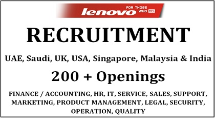 Photo of LATEST JOB VACANCIES AT LENOVO