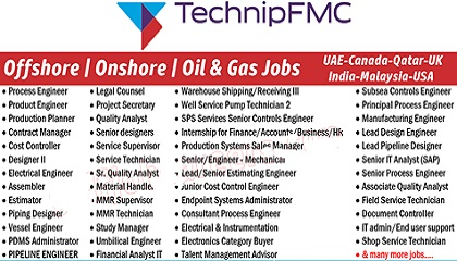 Photo of Latest Jobs at TechnipFMC