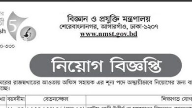 Photo of Ministry of Science and TechnologyJob Circular