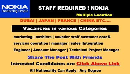 Photo of STAFF REQUIRED! NOKIA