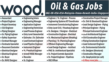 Wood Plc Oil And Gas Jobs