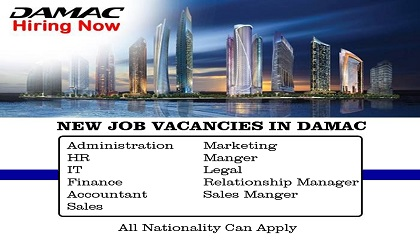 Photo of LATEST JOB VACANCIES AT DAMAC PROPERTIES