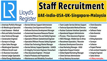 Photo of Lloyd's Register (LR) Job Vacancies – UAE-India-USA-UK-Singapore-Malaysia