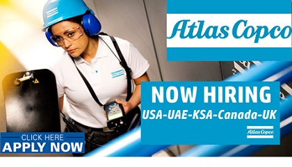 Photo of New Job Vacancies at Atlas Copco