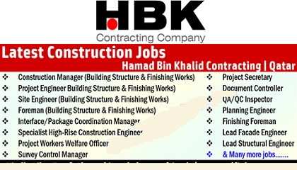 Photo of New Jobs at HBK Contracting Company – Qatar