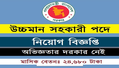 Photo of Job Circular Upper Division Assistant