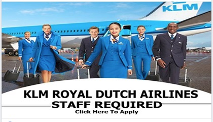 Photo of KLM ROYAL DUTCH AIRLINES HIRING NOW !