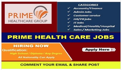 Photo of MULTIPLE JOB VACANCIES AT PRIME HEALTH CARE