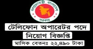 Telephone operator in job circular