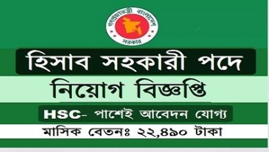 Photo of Junior Accounts Assistant Job Circular