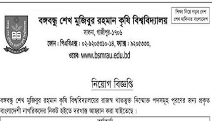 Photo of Bangabandhu Sheikh Mujibur Rahman Agricultural University bsmrau Job Circular 2019