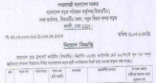 Bangladesh Road Transport Authority (BRTA) Job Circular 2019