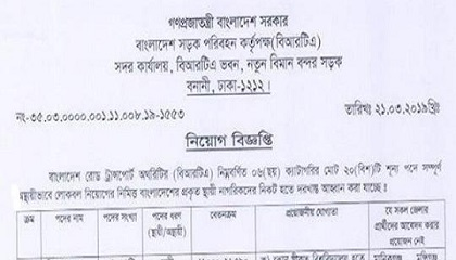 Photo of Bangladesh Road Transport Authority (BRTA) Job Circular 2019