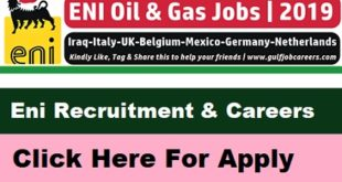 Eni Recruitment 2019
