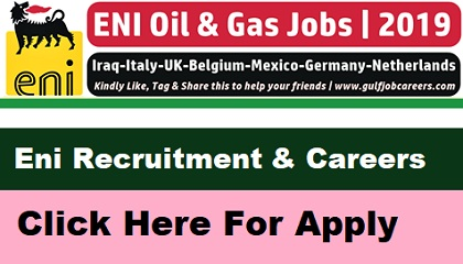 Photo of Eni Recruitment 2019