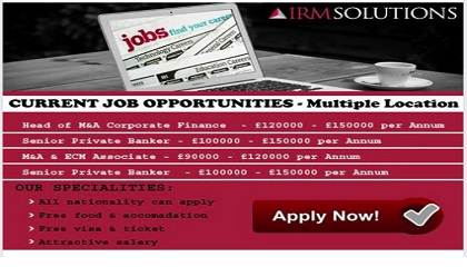 Photo of JOB VACANCIES AT IRM SOLUTIONS