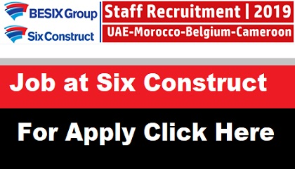 Photo of Latest Job Vacancies at Six Construct