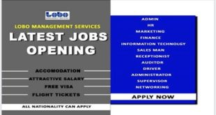 LATEST JOB VACANCIES A LOBO MANAGEMENT SERVICES