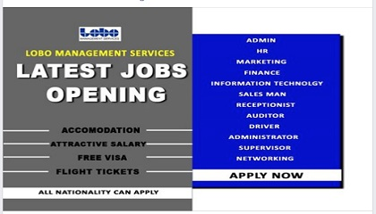 Photo of LATEST JOB VACANCIES A LOBO MANAGEMENT SERVICES