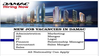 Photo of new jobs @ DAMAC