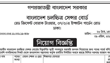 Photo of Bangladesh Film Censor Board published a Job Circular.