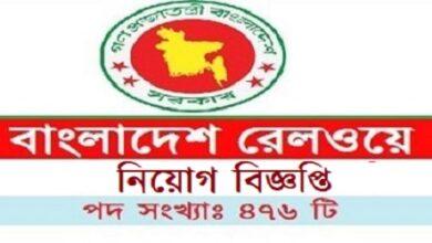 Photo of Bangladesh Railway Job Circular 2021 www.railway.gov.bd