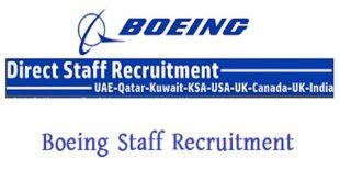 Boeing Staff Recruitment