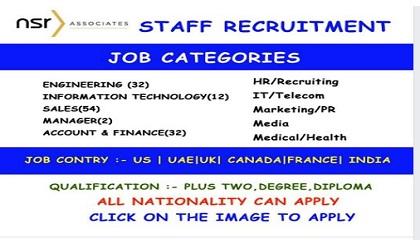 Photo of Jobs Vacancy – Career Opportunities In NSR ASSOCIATES |World Wide