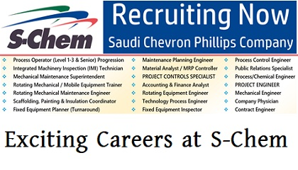 Photo of Exciting Careers at S-Chem (Saudi Chevron Phillips Company)