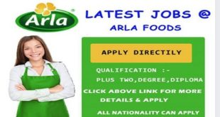 LATEST JOB VACANCIES IN ARLA FOODS – 2019