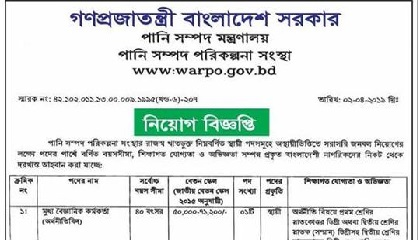 Photo of Ministry of Water Resources Job Circular 2019