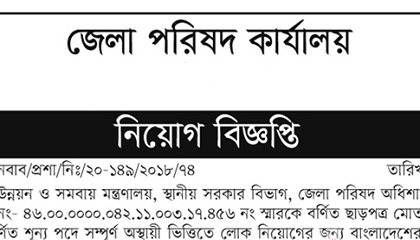 Photo of Office of Zilla Parishad published a Job Circular.