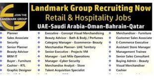 Various Job Vacancies at Landmark Group 2019