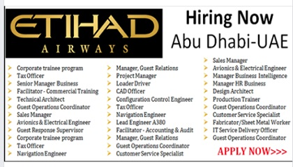 Photo of DIRECT STAFF RECRUITMENT ALL DEPARTMENTS |etihad airways careers