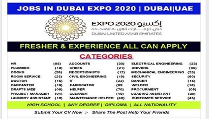 Photo of DUBAI EXPO 2020 STAFF RECRUITMENT