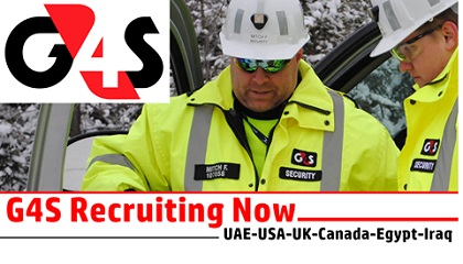 Photo of G4S Job Vacancy 2019 | UAE-USA-UK-Canada