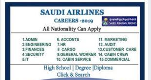 Jobs @SAUDI ARABIAN AIRLINES 2019